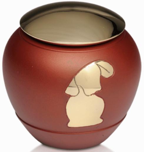 Brass Urn in Matte Rust Brown